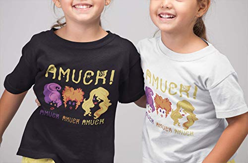 Amuck Witches Funny Halloween Witch Sisters Salem Matching Costume Youth Kids Customized Handmade T-Shirt Hoodie/Long Sleeve/Tank Top/Sweatshirt -