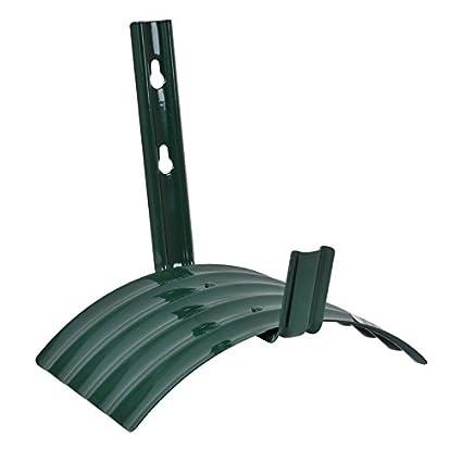 Rocky Mountain Goods Metal Garden Hose Hanger   Heavy Duty Rust Proof Steel    Easy Wall