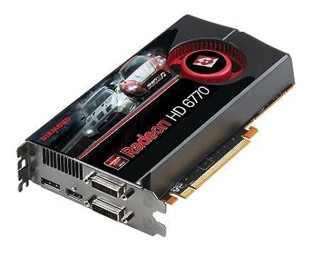 Diamond Multimedia ATI AMD Radeon HD 6770 1GB GDDR5 PCI-Express Graphics  Card 1 DVI/HDMI/1 Display Port Eyefinity 6770PE51GB