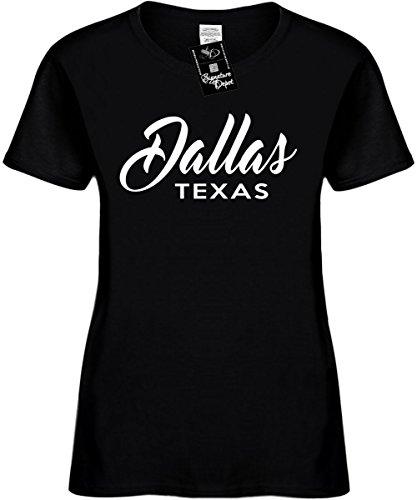 Signature Depot Women's Size XL Funny T-Shirt (Dallas Texas (City State) Ladies Shirt