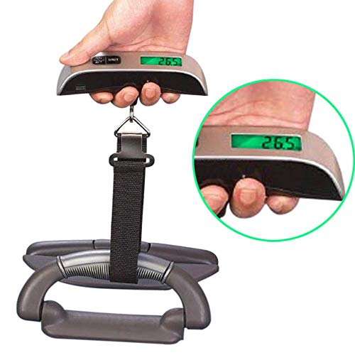 Box Tool - Lcd Digital Scale 50kg 10g Electronic Portable Travel Bag Suitcase Luggage Hanging Scales Balance - Scale Meat Luggage Balance Voltage Weight Smart Sign Safes Clock Depth Scoring ()