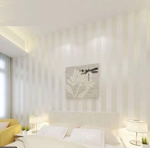 Hanmero european modern minimalist country luxury stripe wallpaper roll for living room bedroom tv backdrop wall creamwhite color amazon co uk diy