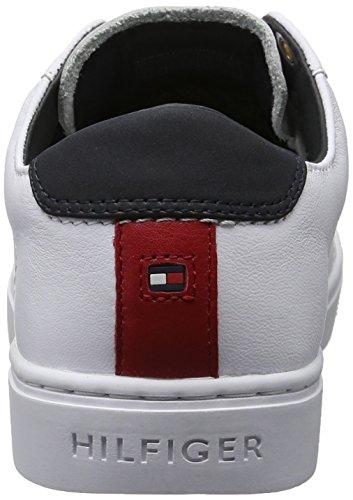Zapatillas 1a1 Hilfiger Tommy bianco Blanco Mujer Para V1285enus E7tEfq8w