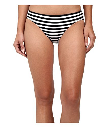 Lauren Ralph Lauren Women's Chic Striped Hipster Bottom Black/White Swimsuit Bottoms (Striped Hipster)