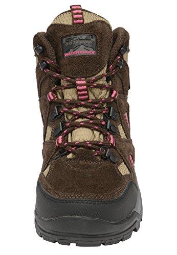 Gola - Zapatillas de senderismo para mujer braun-taupe-pink