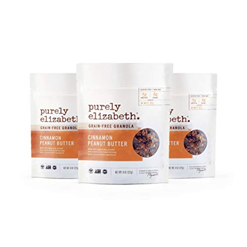 purely elizabeth Grain Free Granola with MCT Oil, Cinnamon Peanut Butter, 3Count