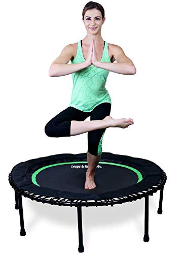 Cheap Leaps & ReBounds Bungee Rebounder – in-Home Mini Trampoline – Safety Bungee Cover, 32 Latex Rubber Bungees – Named Best Value Rebounder (Emerald Green, 48)