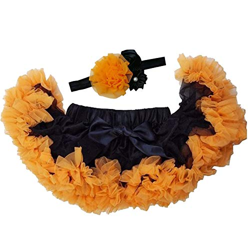 Orange Tutu With Headband - Kirei Sui Baby Pettiskirt Headband Set