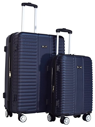 Kemyer 500 Plus TSA Lock Lightweight 2-PC Expandable Spinner Luggage Set: 28'' and 20'' (Navy) by Kemyer