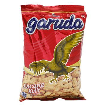 Garuda Kacang Kulit - Roasted Peanuts Original Flavor, 2.64 Oz (Pack of 24)