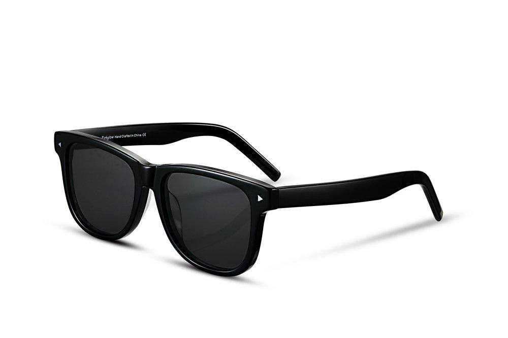 EyeGlow summer fashion sunglasses DD168 classical style big size for Men and women eyeglass (black-gray)