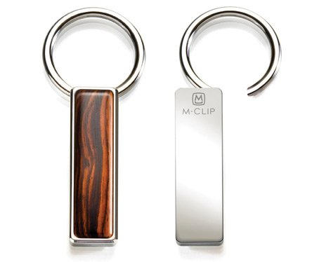M-Clip Wood Key Ring in Cocobolo (SS-KRG-CBWD)