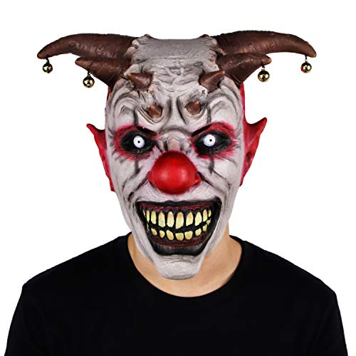 Waylike Novelty Halloween Horrific Demon Adult Scary Clown Cosplay Props Devil Flame Zombie Mask for Parties and Festivals -