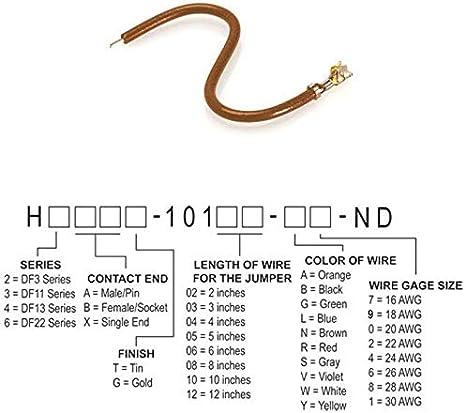 Pack of 250 JUMPER-H1500TR//A3048N//X 6 H2BXT-10106-N8