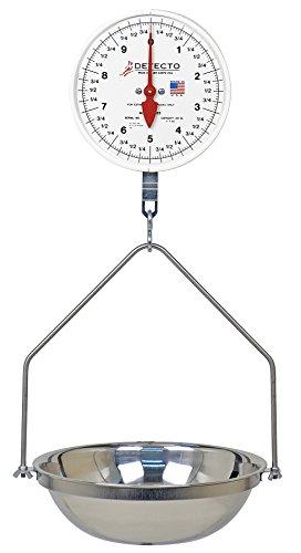 Detecto MCS-20F Hanging Dial Scale, Fish Pan, 20 lb. Capacit
