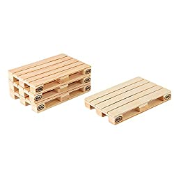 4Pieces/Set Wooden Pallet Styled Coaster Set / Mini Wooden Pallet Coasters