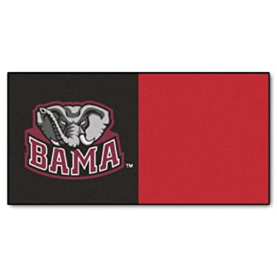 FANMATS NCAA University of Alabama Crimson Tide Nylon Face Team Carpet Tiles