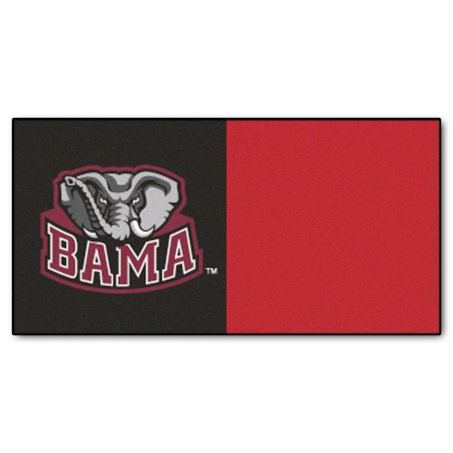 FANMATS NCAA University of Alabama Crimson Tide Nylon Face Team Carpet Tiles by Fanmats