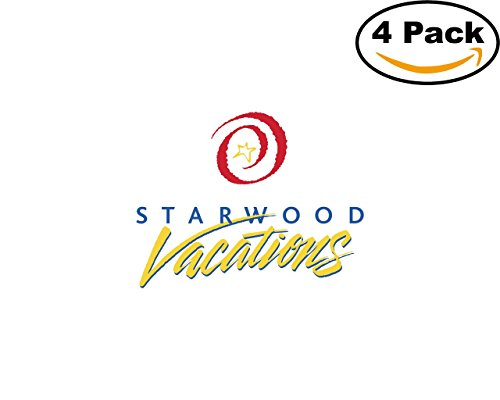Office Starwood (Starwood Vacations 2 4 Stickers 4X4 inches Car Bumper Window Sticker Decal)