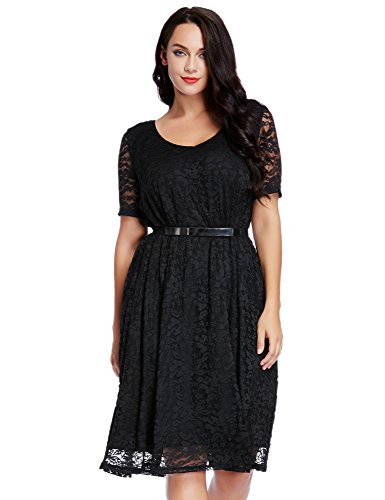 Buy belted lace dress plus size - 6