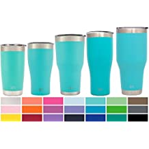 Simple Modern 30oz Cruiser Tumbler - Vacuum Insulated Double Wall Artic Rambler - 30 oz 18/8 Stainless Steel Teal Travel Mug - Caribbean