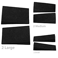Katzco - 6 Piece Furniture Wedge Set - For Fixing Wobbly, Tables, Desks, Chairs, Patio Furniture, Nightstands, Home Furniture and Outdoor Furniture       Product Description       Is your furniture having troublesome wobbling?       Ar...