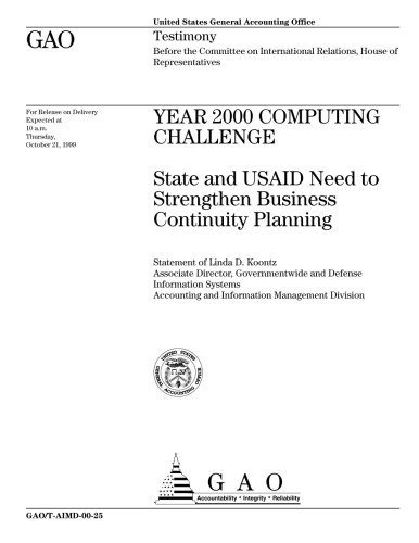 Year 2000 Computing Challenge: State and USAID Need to Strengthen Business Continuity Planning