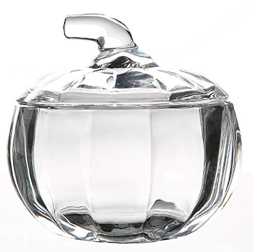 MISS TUTU Pumpkin Shape Crystal Glass Snack Jar Sugar Pot Storage Lid by MISS TUTU (Image #7)