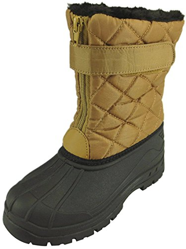The Doll Maker Quilted Snow Boot - FBA1641710B-13 Brown