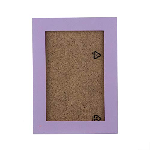 ZSLLO Prop Frame, Wood Clip, Picture Holder, Wedding, Birthday Party, DIY Decoration, Photo Frame 5x7 (Color : Purple, Size : 10in) ()