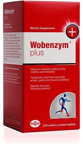 Wobenzym - Wobenzym Plus - Supports Joint Function, Muscles and Recovery after Exertion* - 240 Enteric-Coated Tablets