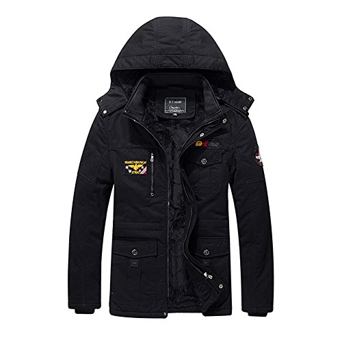 Mission Stack Chair (H.T.Niao Jacket9935C2 Men 's Fashion Plus Velvet Warm Cotton Jackets(Black,Size XXL))