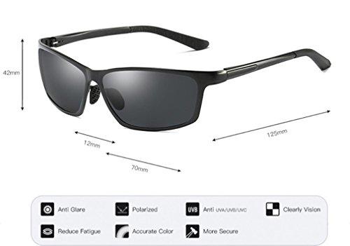 Deportes Hombres Aire Sol antideslumbrantes de A de los la Ultravioleta B Protección de Sol de de MOQJ Gafas Conducción Gafas de la al polarizadas Libre los wCqY7Ean8x