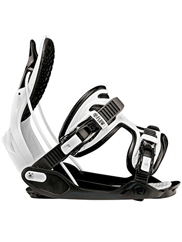 Snowboard Binding Ratchet - Flow Alpha Snowboard Bindings 2018 - Men's Charcoal/White X-Large