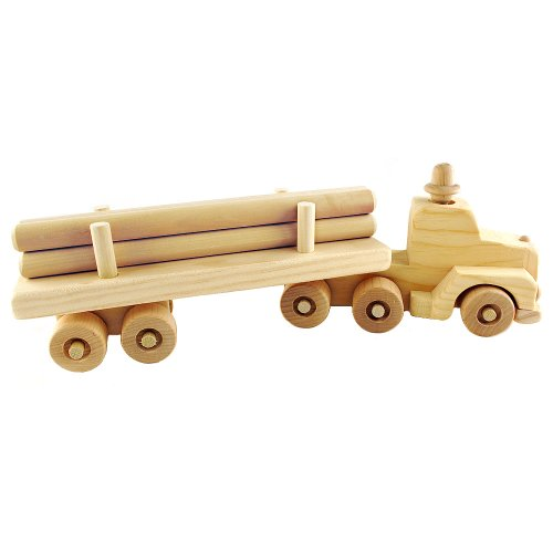 Wooden Toy Log Skidder : Toy log trucks