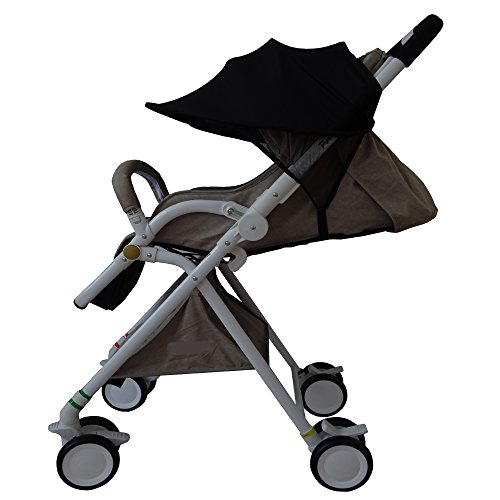 Baby Stroller Mosquito Net,Baby Stroller Sunshade Cover,Canopy Infant Stroller Netting,Breathable Black Jogging Bug Net. by DGou (Image #2)