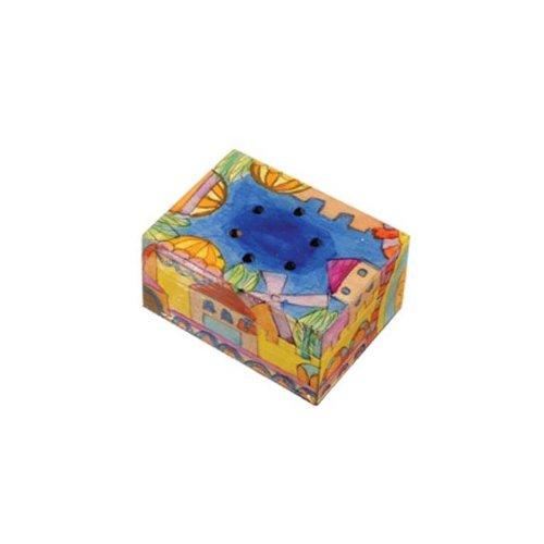 Yair Emanuel Havdalah Spice Box with Jerusalem Design (Includes Cloves)