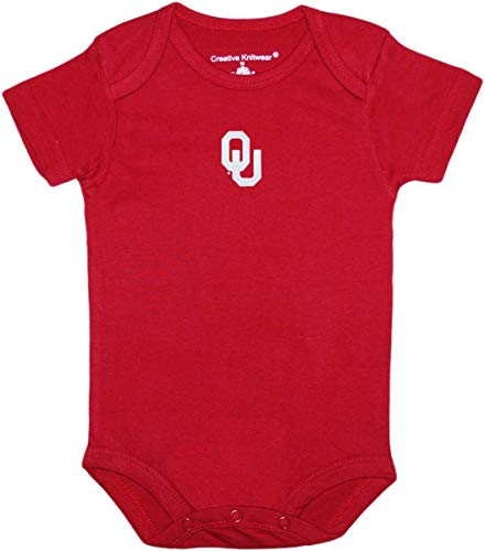 Creative Knitwear Oklahoma Newborn Baby Clothes, Sooners, Boy and Girl College Bodysuit