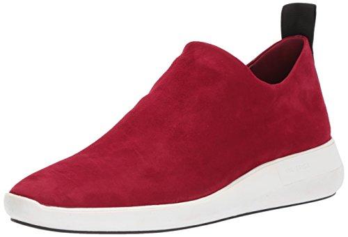 Via Spiga Womens Marlow Slip on Sneaker Ruby Suede