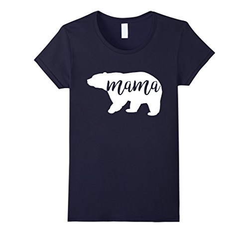 Mom And Baby Costume Ideas (Womens Mama Bear Funny Family Matching Shirts Costume Small Navy)