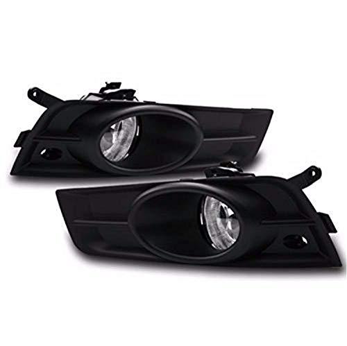 Remarkable Power FL7123 Fit For 2008-11 Toyota Highlander Chrome Trim Black Bezel Fog Light Kits