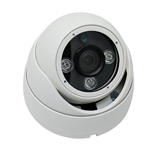 Kenuco 1080P 4 in 1 HD TVI / CVI / AHD / Analog CVBS Infrared Dome Camera : White, Fixed 3.6mm Lens (Range Dome High Def)