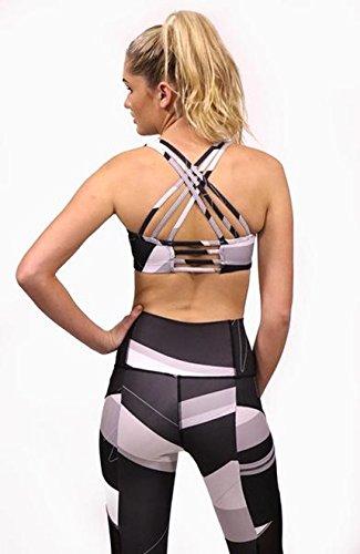 Nikki Print Activewear deportivo mujer Sujetador para Acai Black w1ZgX1qCn