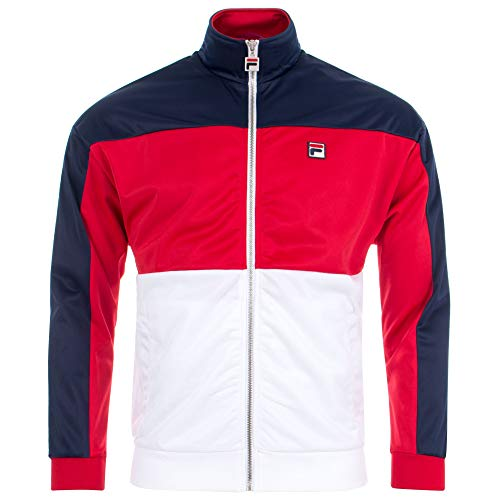 Fila Vintage Sterling Cut & Sew Colour Block Track Top | Peacoat/Red/Green Medium ATDP/PEAC/TRED ()
