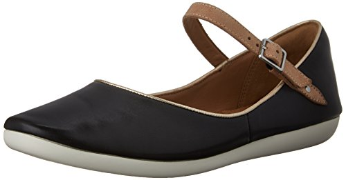 Mary Flat Jane Women's Feature Film Leather Clarks Black CPtq8
