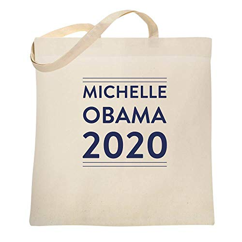 Michelle Obama 2020 For President Campaign Natural 15x15 inches Canvas Tote Bag