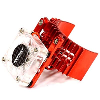 Integy RC Model Hop-ups T8074RED Motor Heatsink 540 Size w/Cooling Fan for Slash Stampede 2WD Rustler 2WD Bandit: Toys & Games