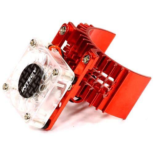 - Integy RC Model Hop-ups T8074RED Motor Heatsink 540 Size w/Cooling Fan for Slash Stampede 2WD Rustler 2WD Bandit