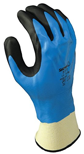 SHOWA 377 Foamed Palm Coating Full Nitrile Undercoating Glove, 13-Gauge Seamless Knitted Liner, General Purpose Work, Medium (Pack of 12 Pairs) by Showa Best Glove  B007VRBYV4