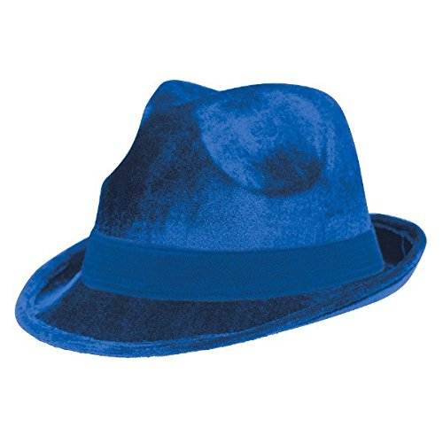 Amscan Velour Fedora, Party Accessory, Blue ()